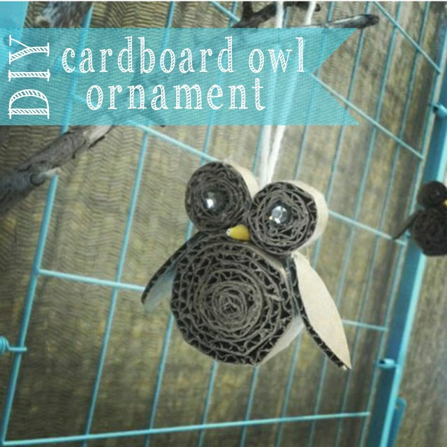 DIY cardboard Owl Ornament