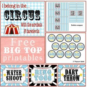 free circus printable