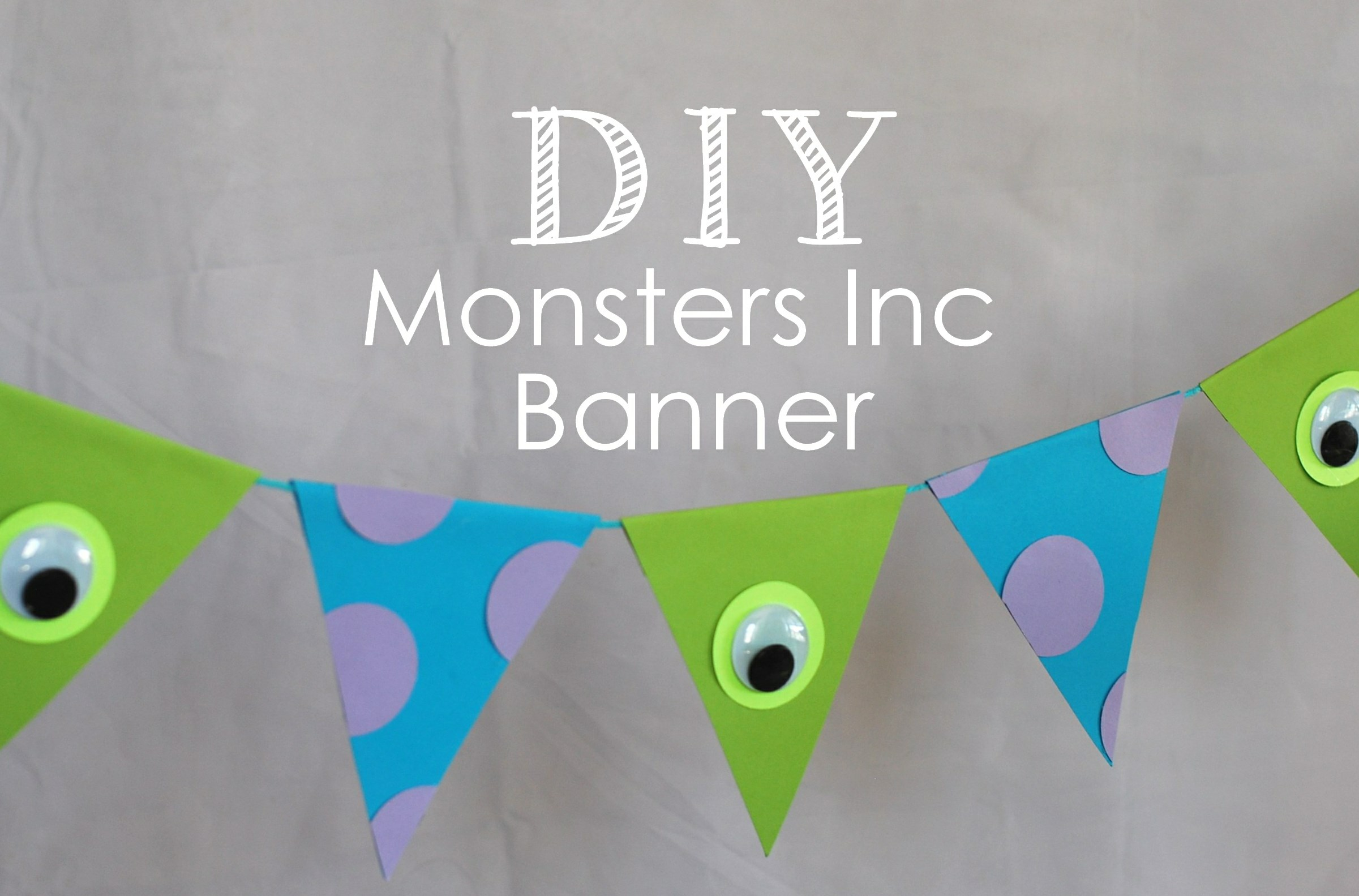 Monster Inc Baby Shower Decorations An Adorable Diy Monster Inc Banner Posh Tart