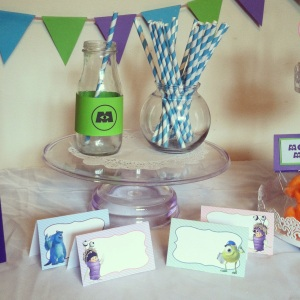 Monster Inc Free party Printables