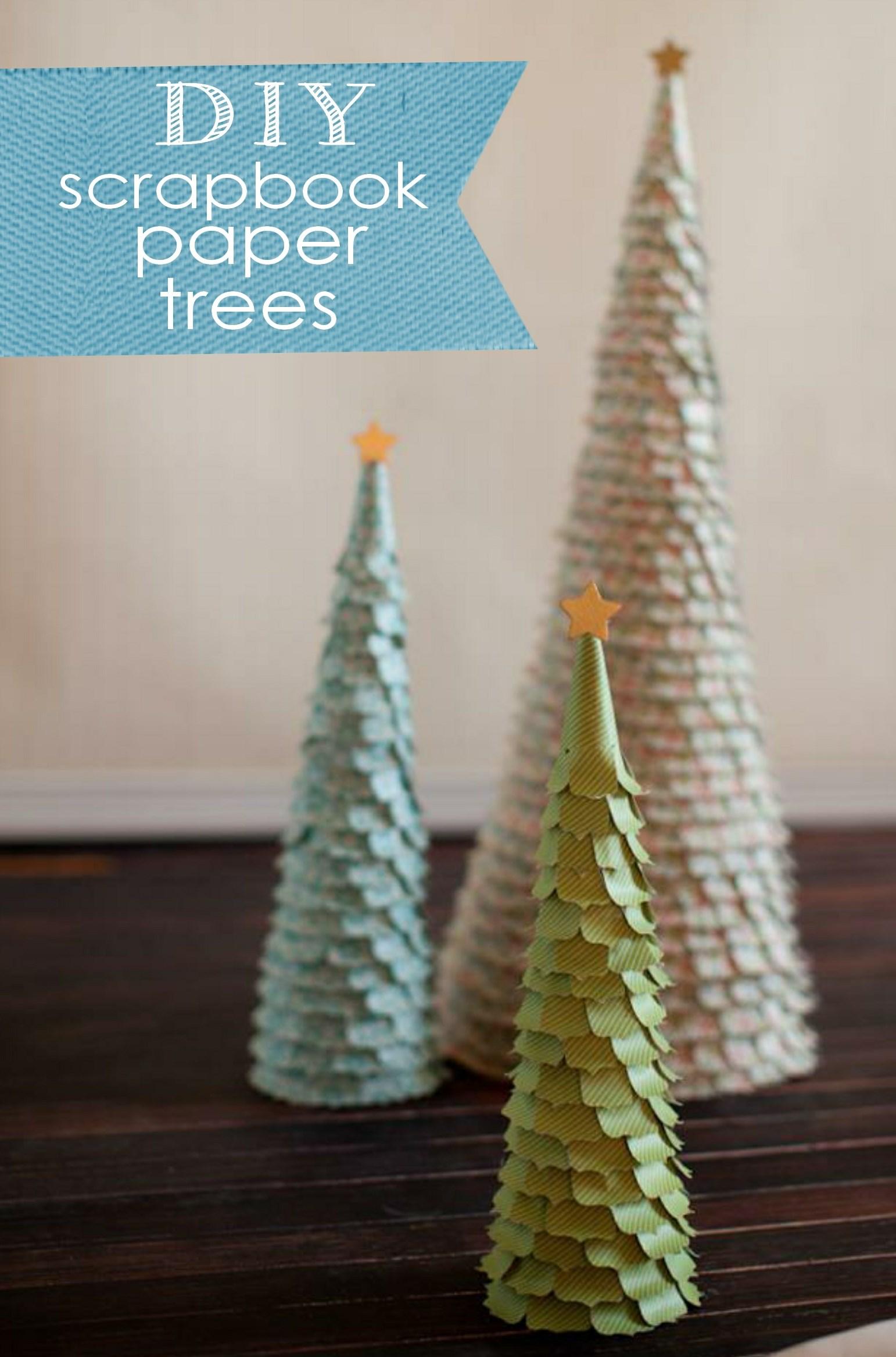 diy scrapbook paper christmas tree posh tart. Black Bedroom Furniture Sets. Home Design Ideas