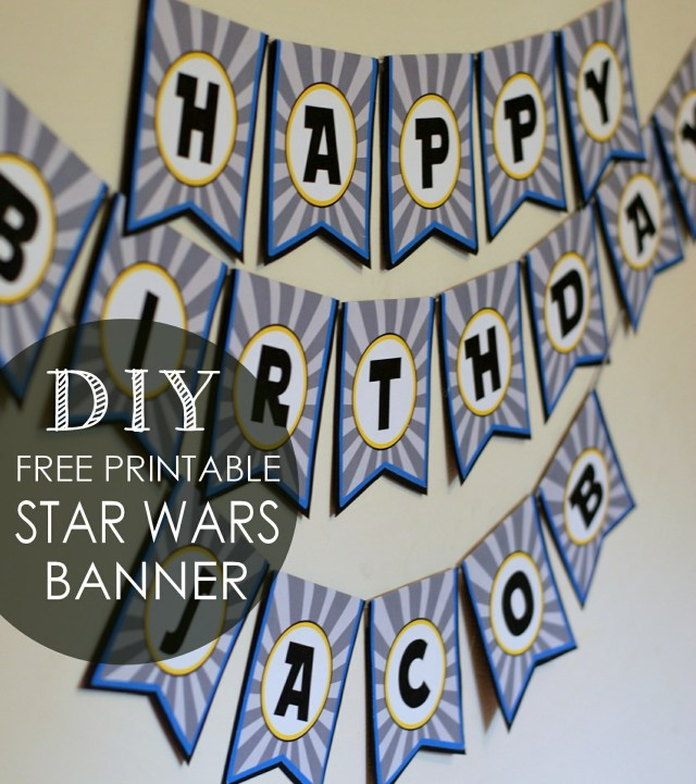 Star Wars DIY birthday Banner