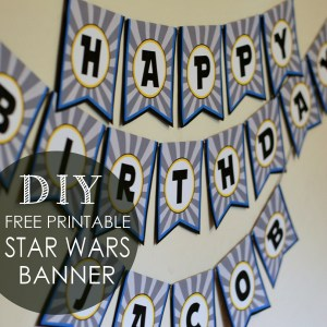 star wars birthday banner diy