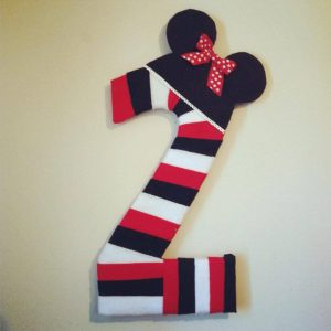 Minnie Mouse Wrapped Number