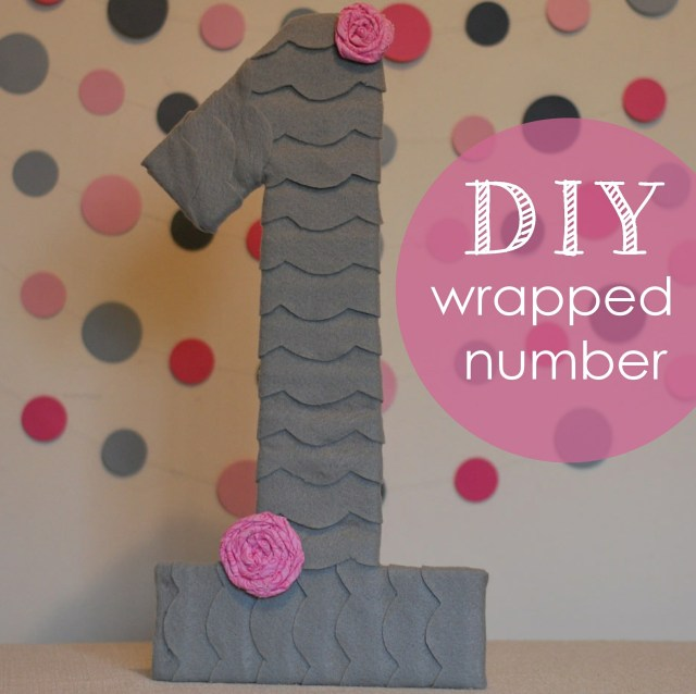 DIY wrapped birthday number