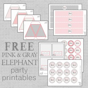 Free Pink and Gray Elephant Party