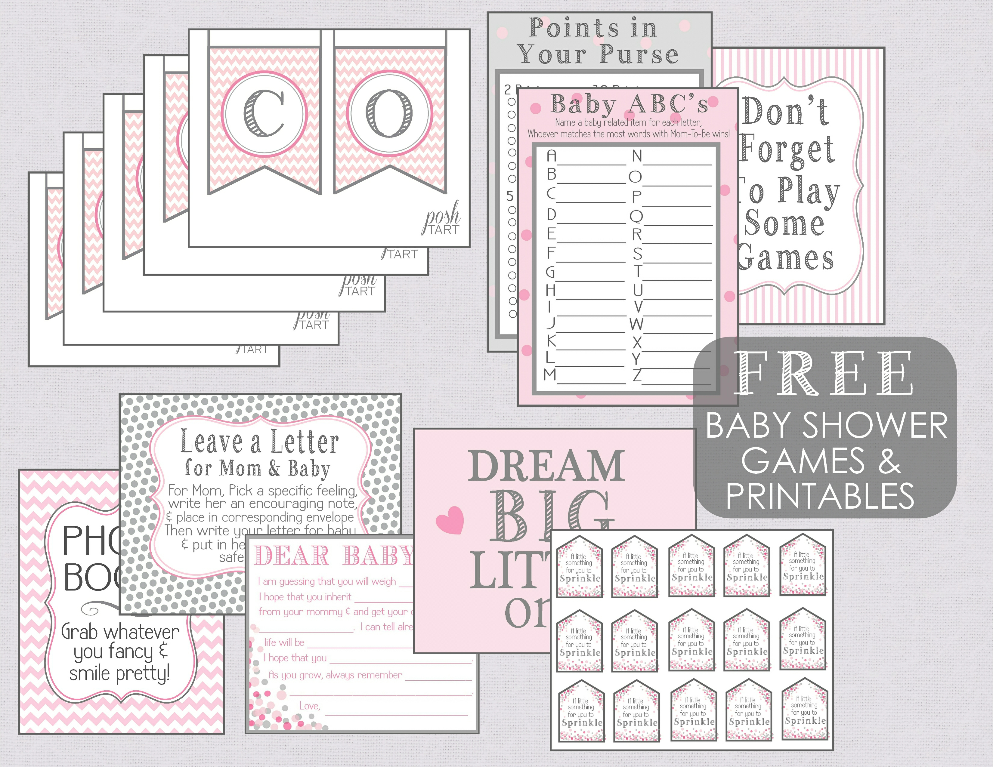 A baby sprinkle contd free printables posh tart free baby shower games and printables pronofoot35fo Choice Image