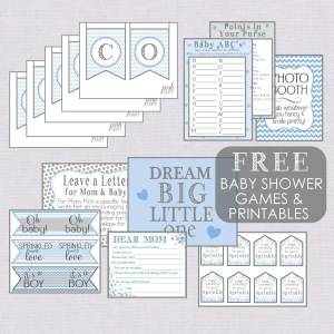 Free Boy Baby Shower Printables