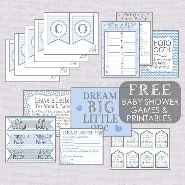 Free Boy Baby Shower Printables