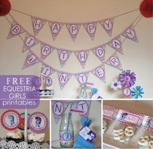 free equestria girls party printable
