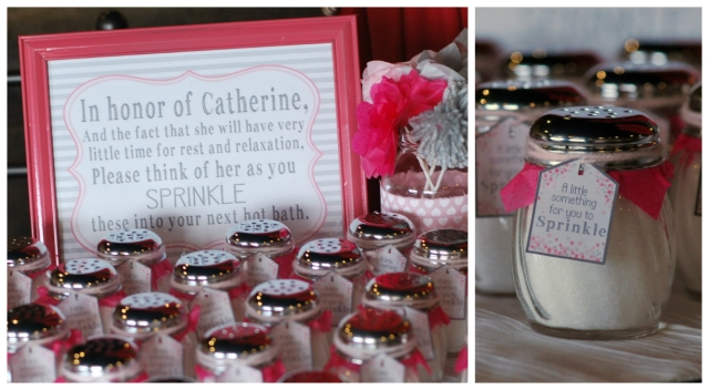 Easy Baby Shower Favors - Sprinkl jars