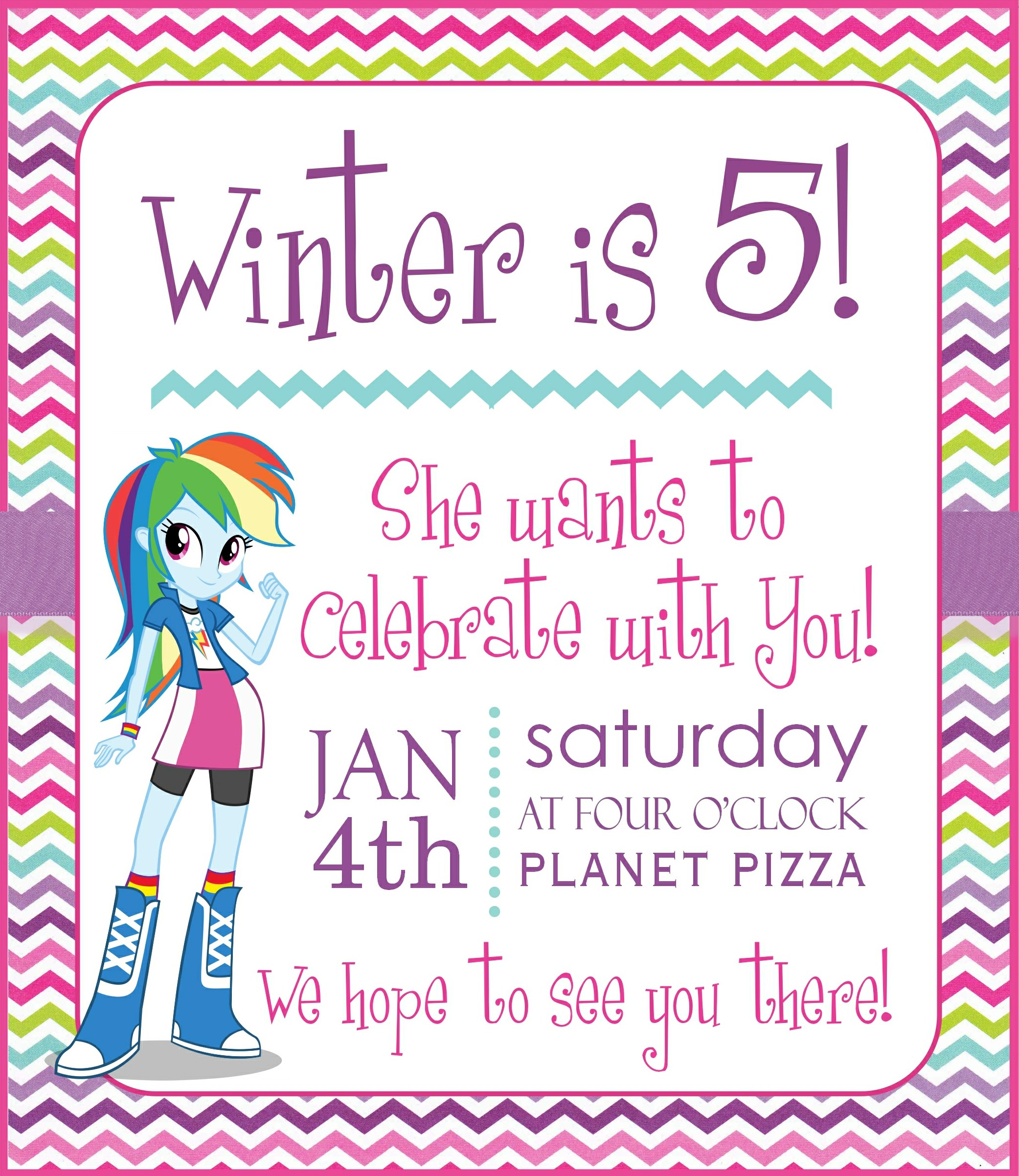 Equestria Girls – Free Party Printables