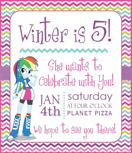Equestria Girl Invite