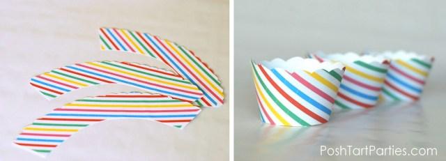 Free Striped Mickey/Minnie Cupcake Wrappers
