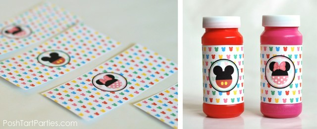 Free Mickey Mouse Pary Printables - Bubble Favors