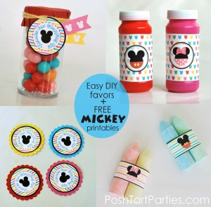 Free Mickey and MinnieFree  Party Favor Printables