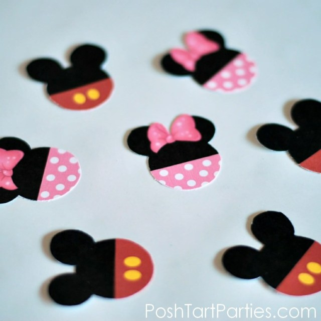 Free Mickey and minnie Cupcake Toppers
