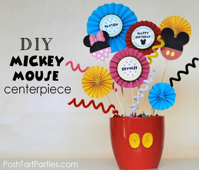 DIY Mickey and Minnie Mouse Party Centerpiece