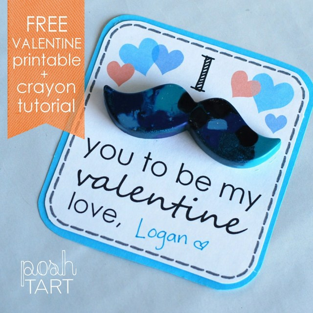 Free Valentine and DIY crayon