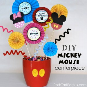 DIY Mickey & Minnie Centerpiece