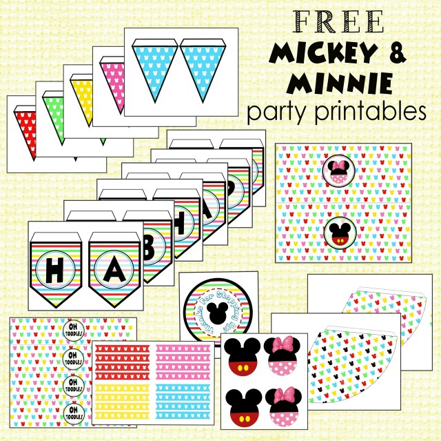 Free Mickey & Minnie Party Printables