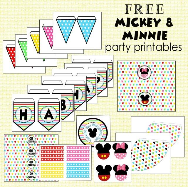 Free Mickey & Minnie Party Printables