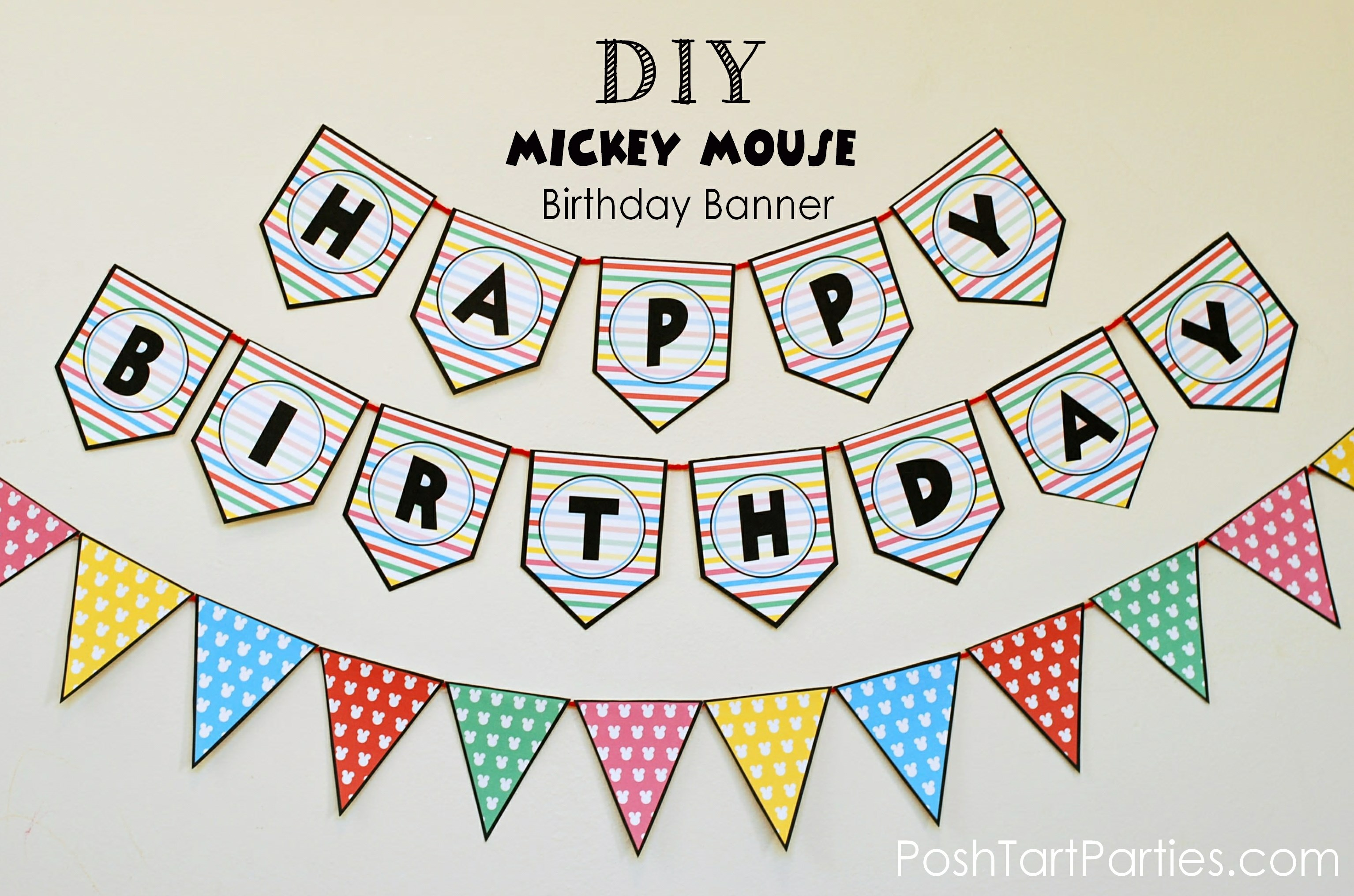 Massif image within happy birthday banner printable