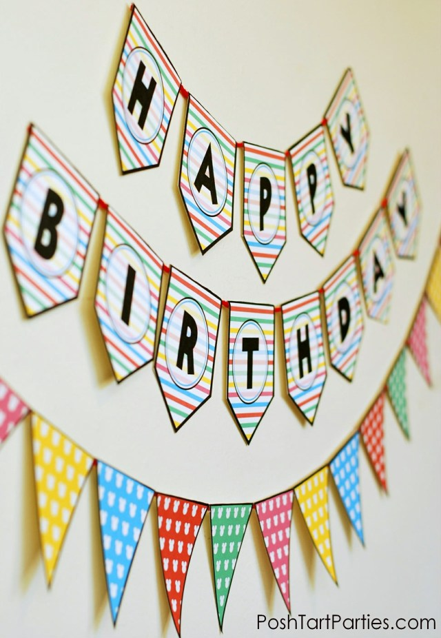 Free Printable Mickey Mouse Party Birthday Banner