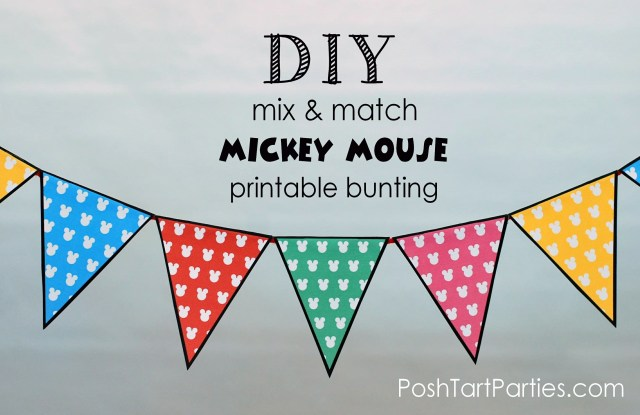 Free printable mickey bunting