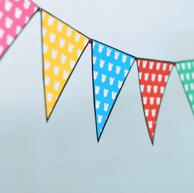 mickey mouse diy bunting