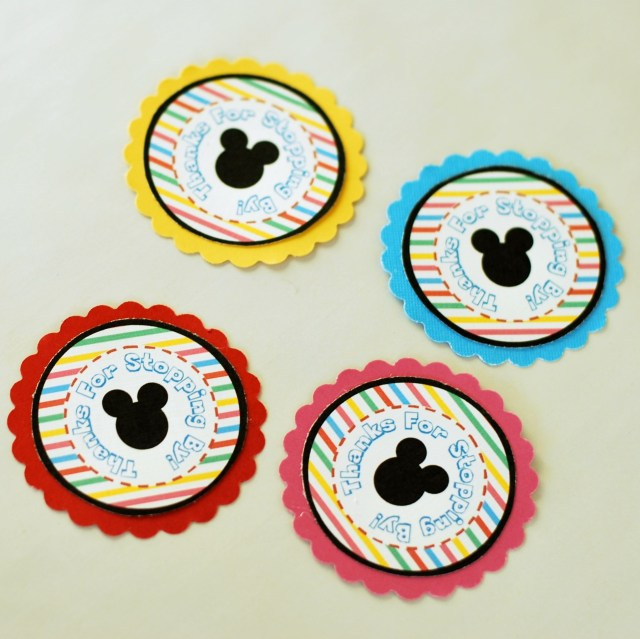 Free Printable Mickey Mouse DIY Favor Tags