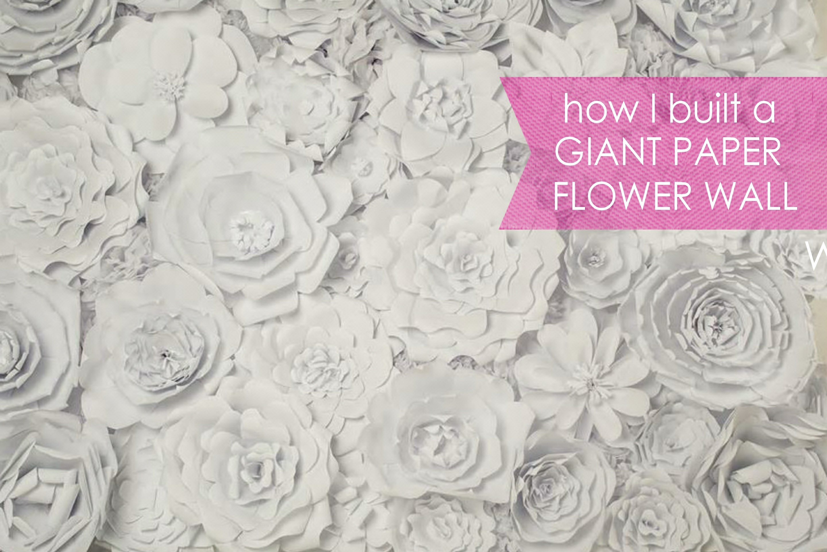 Paper flower backdrop posh tart diy giant flower wall mightylinksfo