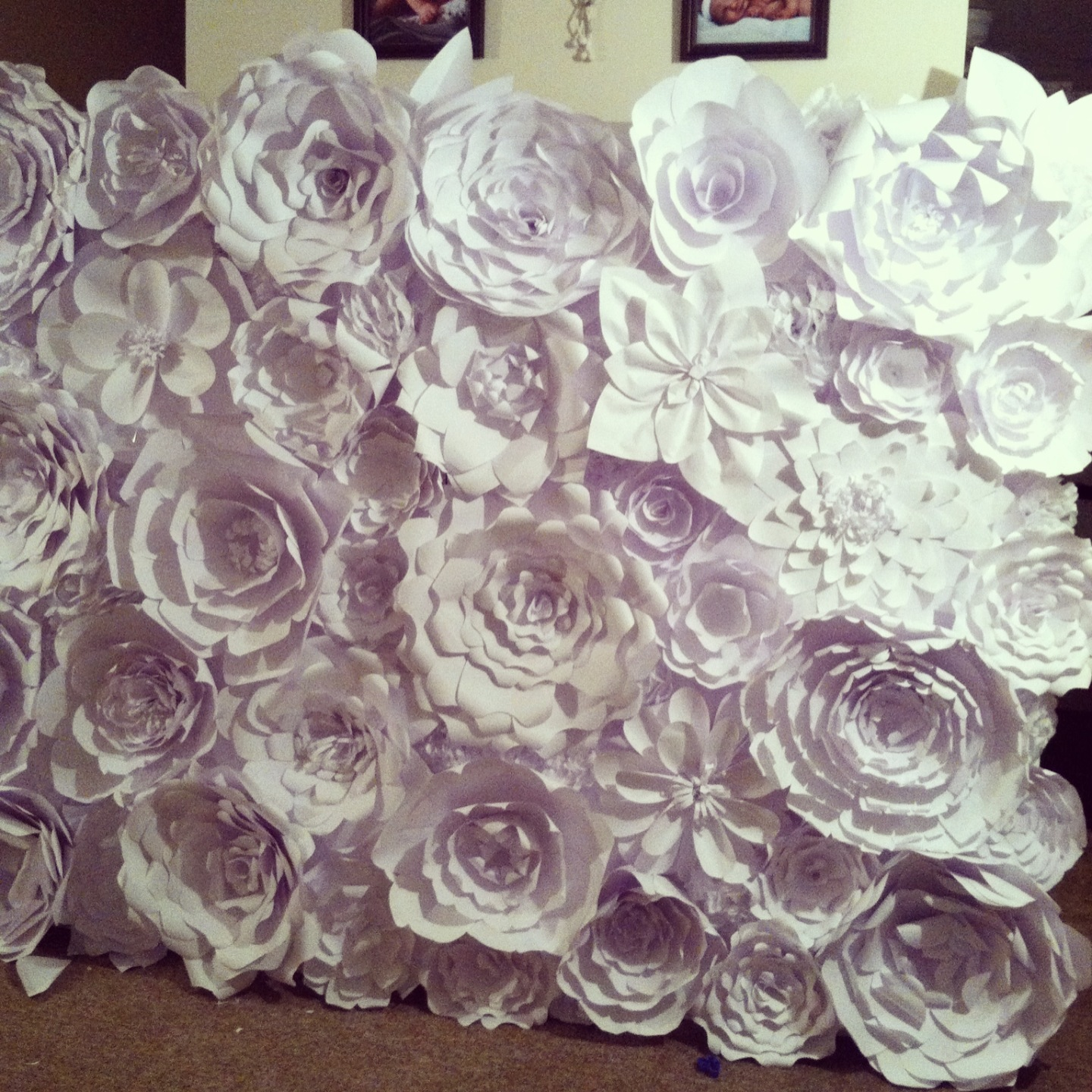 Paper flower backdrop posh tart if you want to check out how this flower wall was used you can check out the original post and flower tutorial here and dont forget to check out the izmirmasajfo Gallery