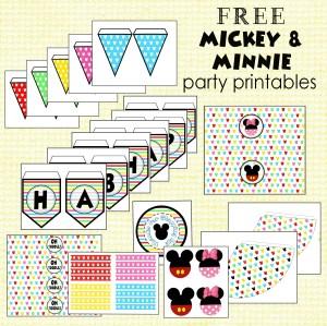 Free Mickey and Minnie Printables