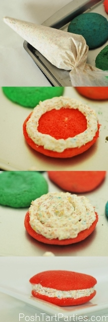 DIY Rainbow Cake Mix Whoopie Pies 2