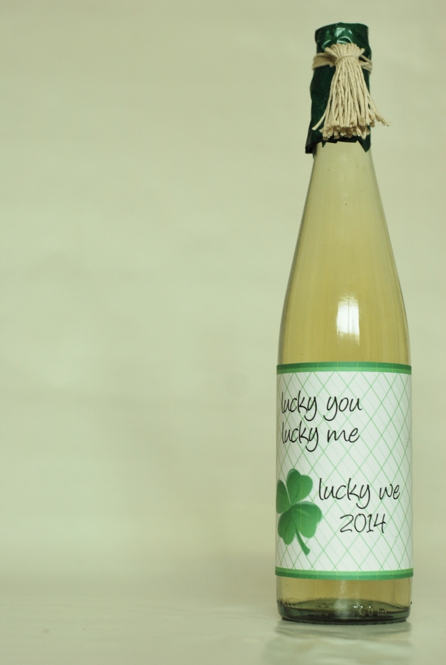 Free Wine Label for St Patricks Day
