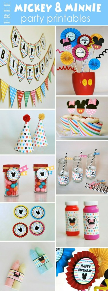 Free Mickey and Minnie Party Printables & Easy DIYs
