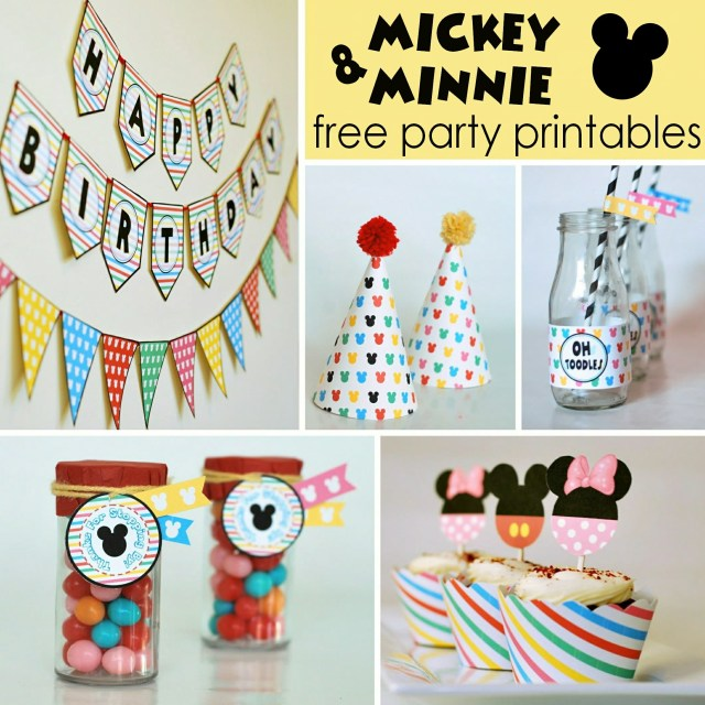 Free Mickey and Minnie Party Printables