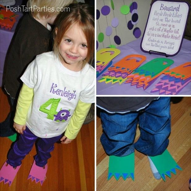 DIY Monster Feet Birthday Party