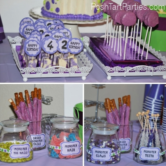 Purple People Eater Party - Sweets Table